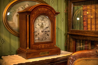 """Antique Clock - Cowichan Valley Museum, Duncan, Vancouver Island, BC, Canada Visit our blog """"Tempus Fugit: A Clock's Storied History"""" for the story behind the photo."""