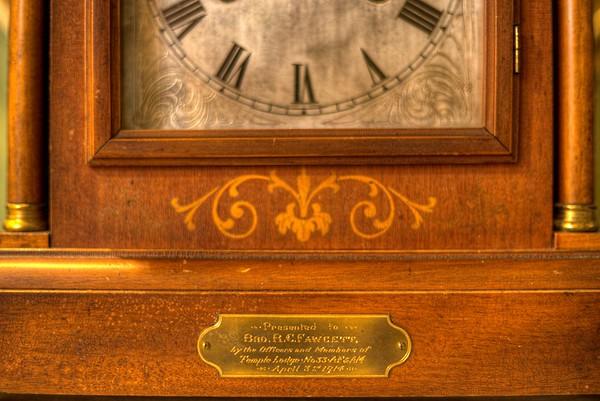 Antique Clock - Cowichan Valley Museum, Duncan, Vancouver Island, BC, Canada