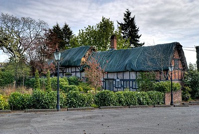 "Anne Hathaways Cottage (Replica), English Inn & Resort, Victoria, BC, Canada Visit our blog ""The Cottage's Final Days"" for the story behind the photo."