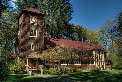 "Fairbridge Chapel - Cowichan Station, Cowichan Valley, Vancouver Island, BC, Canada Visit our blog ""The Chapel Built for Children"" for the story behind the photo."