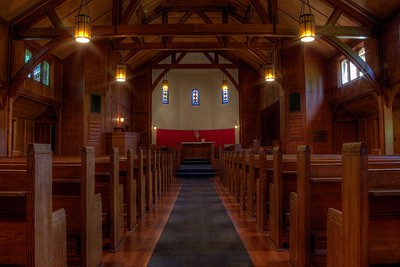 """Fairbridge Chapel - Cowichan Station, Cowichan Valley, Vancouver Island, BC, Canada Visit our blog """"Beams and Pews"""" for the story behind the photo."""