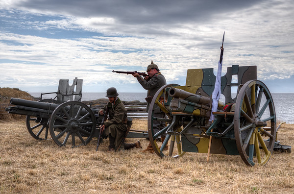 German Field Guns - German Military Reenactors - Esquimalt, Victoria, BC, Canada
