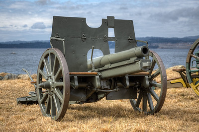 """German 77mm Nahkampfkanone L/27, Reg. #9739 - Esquimalt, Victoria, BC, Canada Visit our blog """"Silent For 100 Years"""" for the story behind the photo."""