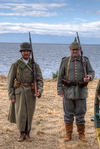 "German Military Re-enactors - Esquimalt, Victoria, BC, Canada Visit our blog ""Silent For 100 Years"" for the story behind the photo."