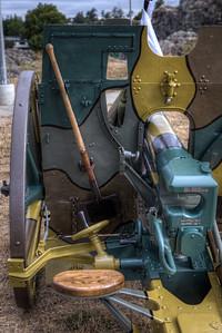 "German 77mm Feldkanone 96 neuer Art Field Gun, Reg. #595 - Esquimalt, Victoria, BC, Canada Visit our blog ""Silent For 100 Years"" for the story behind the photo."