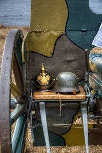 "German 77mm Feldkanone 96 neuer Art Field Gun, Reg. #595 - Esquimalt, Victoria, BC, Canada Visit our blog ""Silent For 100 Years"" for the story behind the photo."