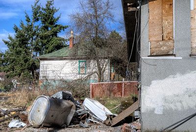 """House Demolition - Victoria BC Canada Visit our blog """"A Date With An Excavator"""" for the story behind the photos."""
