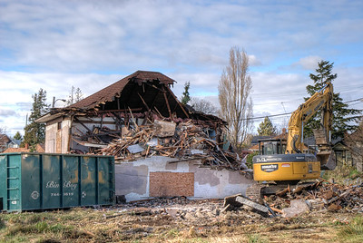 "House Demolition - Victoria BC Canada Visit our blog ""A Date With An Excavator"" for the story behind the photos."
