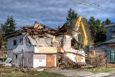 """House Demolition - Victoria BC Canada Visit our blog """"There Goes The Neighborhood"""" for the story behind the photo."""