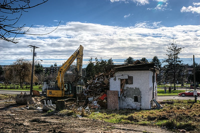"House Demolition - Victoria BC Canada Visit our blog ""There Goes The Neighborhood"" for the story behind the photo."