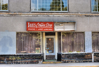 "Ian's Coffee Stop / Turner's News - Victoria, BC, Canada Visit our blog ""A City Landmark Lies Forlorn"" for the story behind the photos."