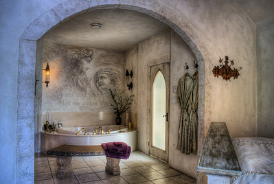 """Master Bathroom - Castle B&B - Chemainus BC Canada Visit our blog """"The King's Bedchamber"""" for the story behind the photo."""