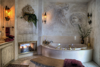 "Master Bathroom - Castle B&B - Chemainus BC Canada Visit our blog ""The King's Bedchamber"" for the story behind the photo."