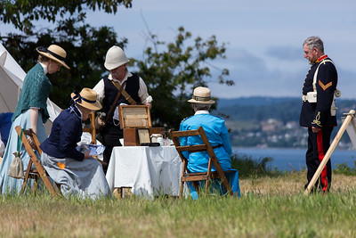 Victoria-Esquimalt Military Re-enactors Association (VEMRA) - 2015 Fort Macaulay Historic Interpretation Tour - Victoria, BC, Canada