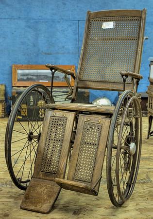 Antique Wheelchair - Metchosin Pioneer Museum, Vancouver Island, BC, Canada