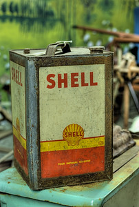 "Old Can - Metchosin Pioneer Museum, Vancouver Island, BC, Canada Visit our blog ""Rusty Skates And Tin Cans"" for the story behind the photo."