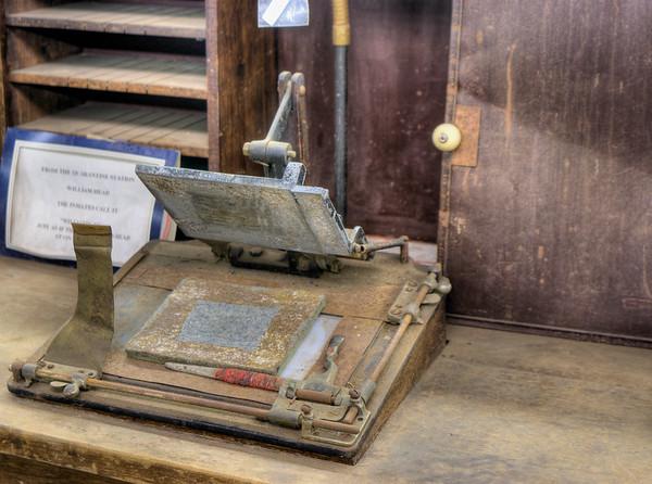 Antique Badge Machine - Metchosin Pioneer Museum, Vancouver Island, BC, Canada