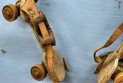 """Roller Skate - Metchosin Pioneer Museum, Vancouver Island, BC, Canada Visit our blog """"Rusty Skates And Tin Cans"""" for the story behind the photo."""