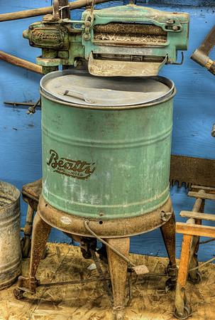 Antique Beatty Agitator Washing Machine (c. 1920's) - Metchosin Pioneer Museum, Vancouver Island, BC, Canada