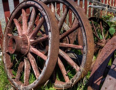 Wagon Wheels - Metchosin Pioneer Museum, Vancouver Island, BC, Canada