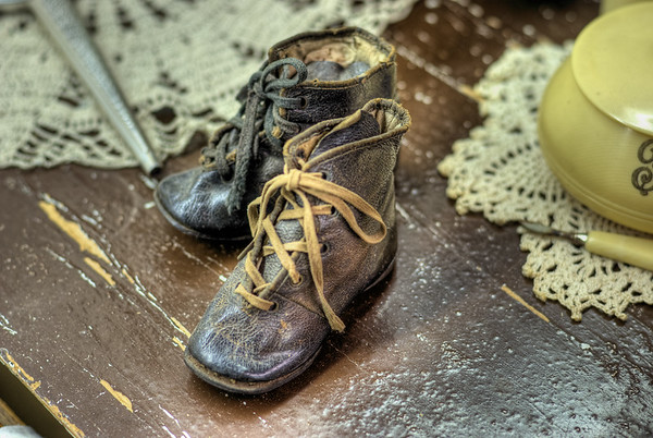 Tiny Boots - Metchosin Pioneer Museum, Vancouver Island, BC, Canada