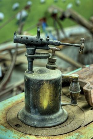 Antique Torch - Metchosin Pioneer Museum, Vancouver Island, BC, Canada