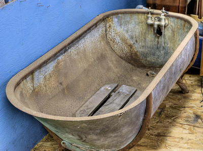 """Old Tub - Metchosin Pioneer Museum, Vancouver Island, BC, Canada Visit our blog """"Holy Bathtub, Batman!"""" for the story behind the photos."""
