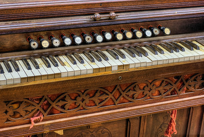 """Antique Organ - Metchosin Pioneer Museum, Vancouver Island, BC, Canada Visit our blog """"The Day The Music Died"""" for the story behind the photos."""