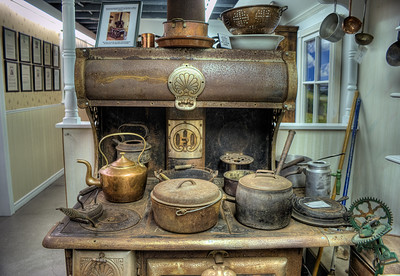 """Antique Stove - Metchosin Pioneer Museum, Vancouver Island, BC, Canada Visit our blog """"Things Are Heating Up Around Here!"""" for the story behind the photos."""