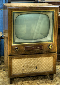 """RCA Victor TV Set - Metchosin Pioneer Museum, Vancouver Island, BC, Canada Visit our blog """"57 Channels And Nothing On"""" for the story behind the photos."""