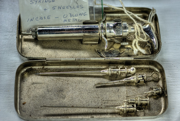 Antique Needles & Syringes - Metchosin Pioneer Museum, Vancouver Island, BC, Canada