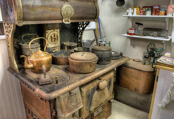 Antique Stove - Metchosin Pioneer Museum, Vancouver Island, BC, Canada