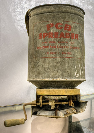 Agricultural Chemical Spreader - Metchosin Pioneer Museum, Vancouver Island, BC, Canada