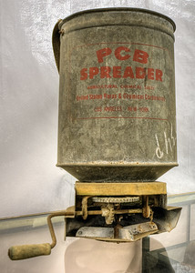 """Agricultural Chemical Spreader - Metchosin Pioneer Museum, Vancouver Island, BC, Canada Visit our blog """"A What Spreader??"""" for the story behind the photos."""