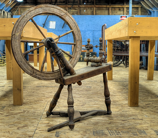 Antique Spinning Wheel - Metchosin Pioneer Museum, Vancouver Island, BC, Canada