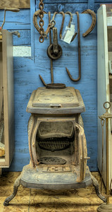 """Antique Wood Stove - Metchosin Pioneer Museum, Vancouver Island, BC, Canada Visit our blog """"Things Are Heating Up Around Here!"""" for the story behind the photos."""