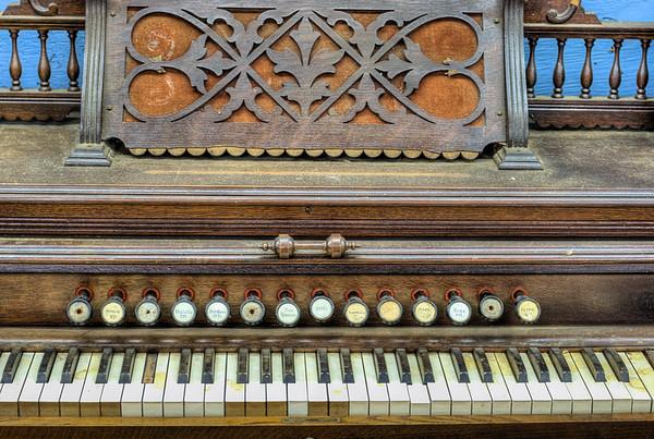 Antique Organ - Metchosin Pioneer Museum, Vancouver Island, BC, Canada