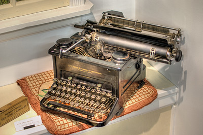 """Antique Typewriter - Metchosin Pioneer Museum, Vancouver Island, BC, Canada Visit our blog """"Remnants of Yesterday"""" for the story behind the photo."""