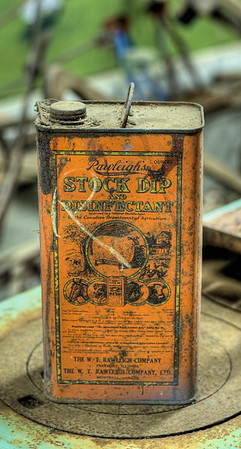 Old Can - Metchosin Pioneer Museum, Vancouver Island, BC, Canada