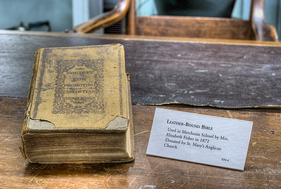 """Old Book - Metchosin Schoolhouse - Metchosin, BC, Canada Visit our blog """"Mrs. Toad And The Case Of The Missing Links"""" for the story behind the photo."""