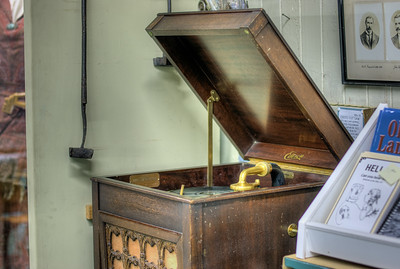 """Edison Phonograph - Metchosin Schoolhouse - Metchosin, BC, Canada Visit our blog """"A Time Before Satellite TV"""" for the story behind the photo."""