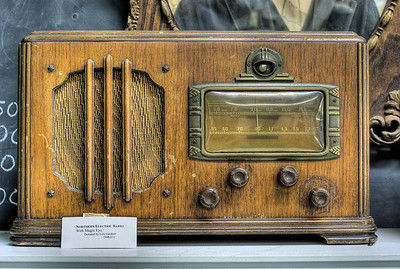 """Antique Radio - Metchosin Schoolhouse - Metchosin, BC, Canada Visit our blog """"A Time Before Satellite TV"""" for the story behind the photo."""