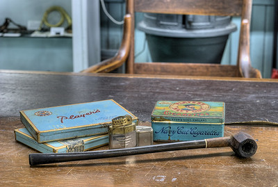 "Smoking Tobacco and Accessories - Metchosin Schoolhouse - Metchosin, BC, Canada Visit our blog ""A Pinch Of Tobacco"" for the story behind the photo."
