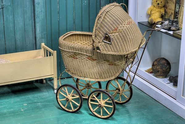 Antique Baby Carriage - Metchosin Schoolhouse - Metchosin, BC, Canada