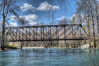 """Train Trestle - Quw'utsun' Cultural & Conference Centre - Duncan BC Canada Visit our blog """"A Metaphor For The Toads"""" for the story behind the photos."""