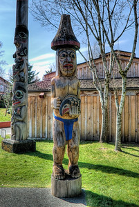 """Quw'utsun' Cultural & Conference Centre - Duncan BC Canada Visit our blog """"West Coast Totem Poles: BC's Heritage"""" for the story behind the photo."""