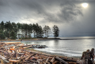 View From Shakie's Burger Shack - Vancouver Island BC Canada