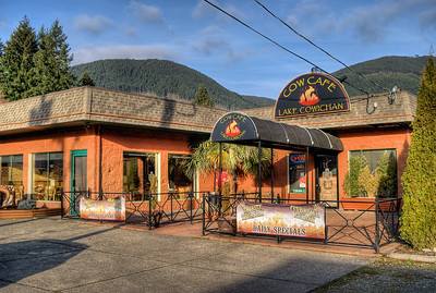 """The Cow Cafe - Lake Cowichan, BC, Canada Visit our blog """"The Best Burgers This Side Of The Rockies"""" for the story behind the photos."""