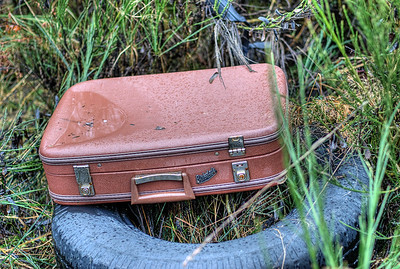 "Abandoned Suitcase - Paldi - Cowichan Valley, Vancouver Island, BC, Canada Visit our blog ""No Shoes, No Luggage, No Service"" for the story behind the photos."