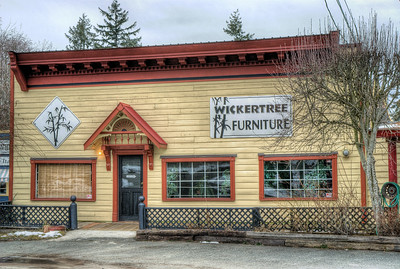 """Wickertree Furniture - Whippletree Junction, Duncan BC Canada Visit our blog """"No Change At The Bank"""" for the story behind the photo."""